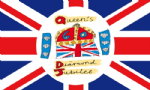 Queen's Diamond Jubilee Large Flag - 5' x 3', official design.